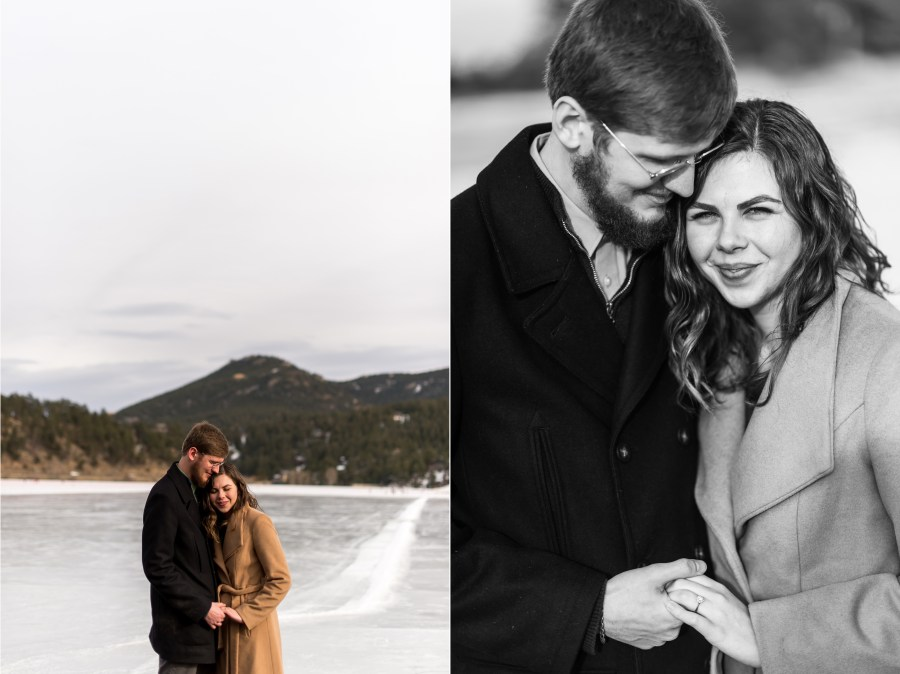Evergreen engagement photos at Alderfer/Three Sisters Park and Evergreen Lake in Evergreen, Colorado.