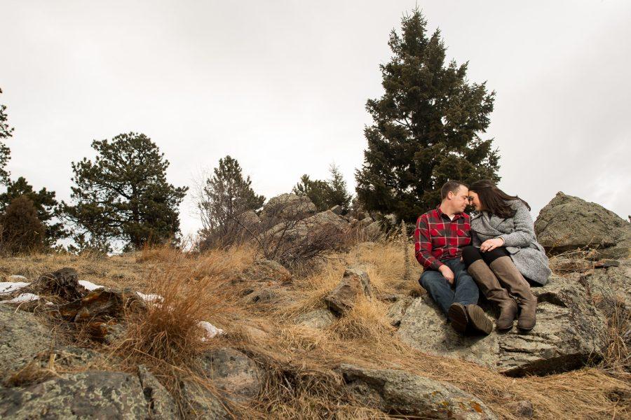 Elk Meadow Park Evergreen engagement with Rachel and Jeff.
