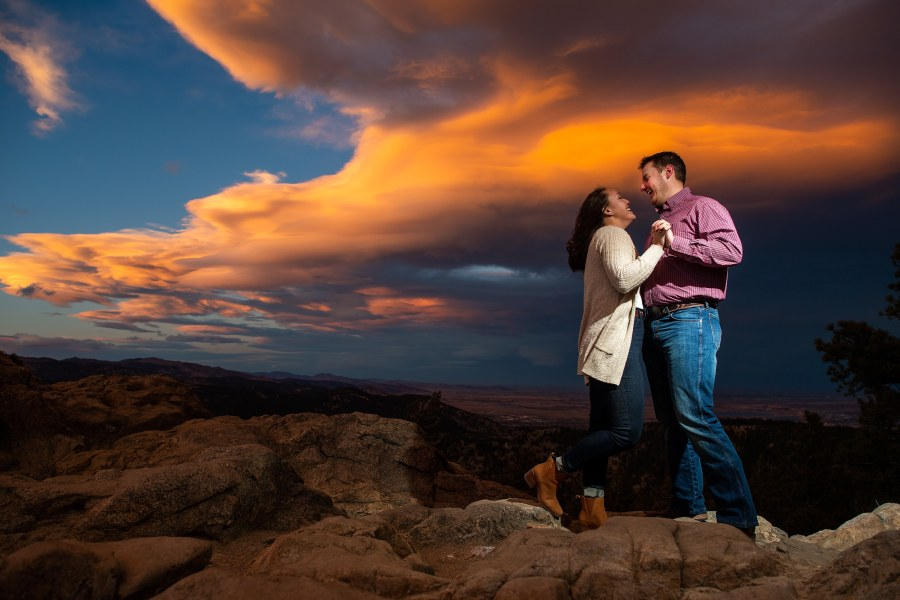 Lost Gulch Overlook engagement photos in Boulder, Colorado, with Sarah and Kyle.