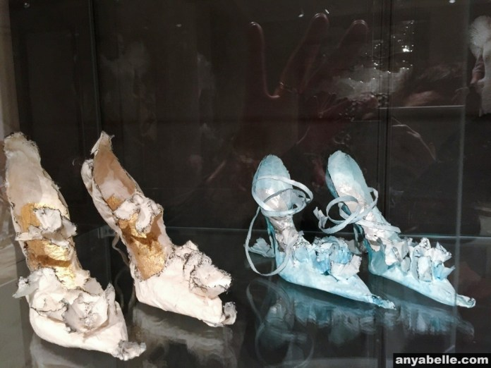 Shoes displayed at Design Museum Denmark