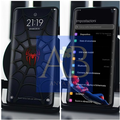 Tema Spiderman Red & Black Xiaomi MIUI 12 terbaru
