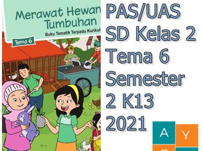 Soal PAS/UAS SD Kelas 2 Tema 6 Semester 2 K13 2021