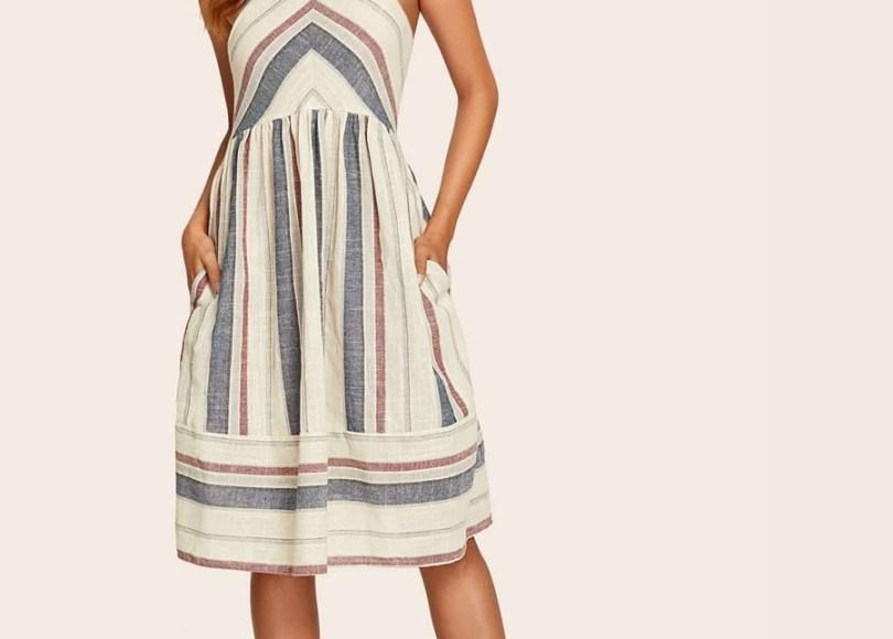 robe-rayures-verticales