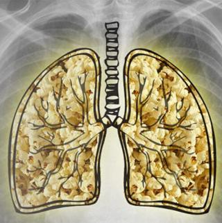 Microwave popcorn causes lung damage