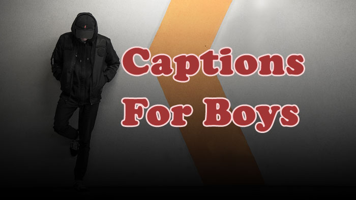 Caption Profile Pic Boy