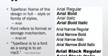 Difference Between Font and Typography