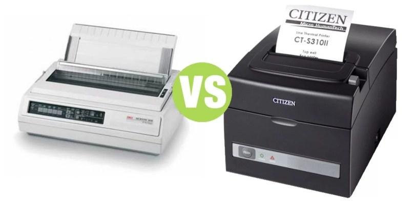 Difference Between Thermal Printer and Dot Matrix Printer