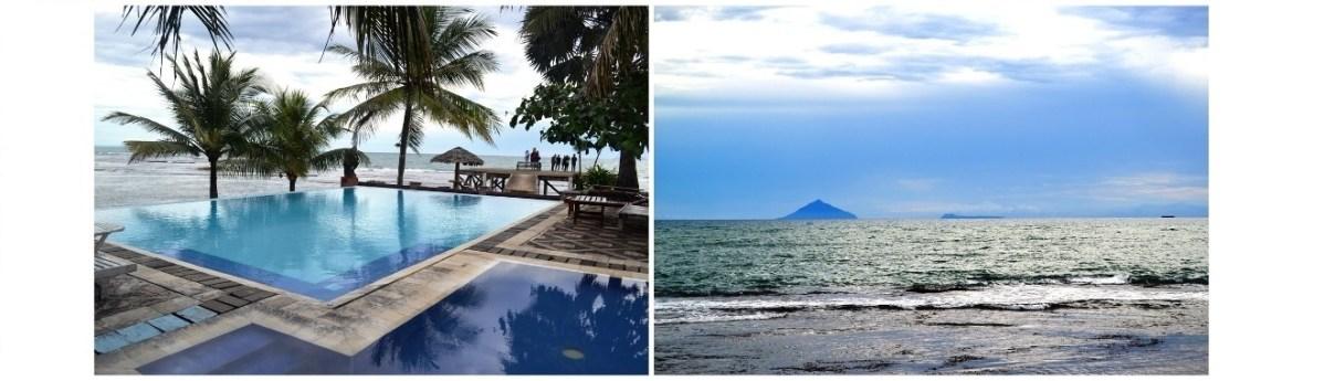 Rokan Beach Villa Anyer Menyaksikan Sunset dibalik Anak Krakatoa