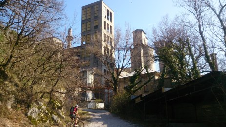 The disused quarry buildings that were asking to be explored