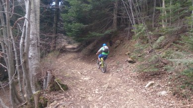 Wobbling up the hill