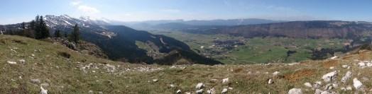 View from Les Ramées towards Lans-En-Vercors