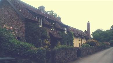 Quaint Somerset cottages next to the campsite