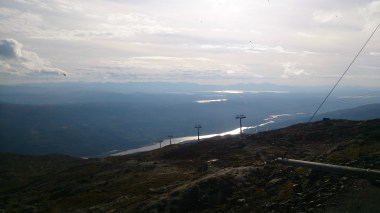 The view is quite something from up top. You can see for miles and miles across the empty countryside back towards Norway