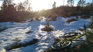 snow enduro mountain biking in bymarka trondheim ibis mojo hd