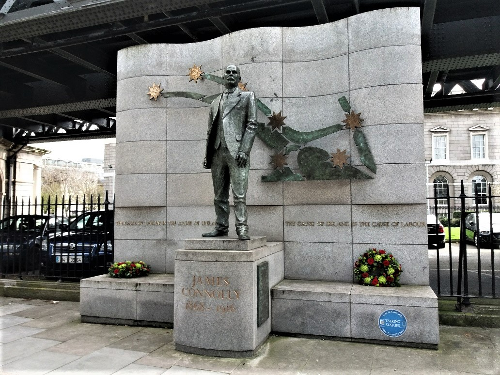 James Connolly statue by the Customs House