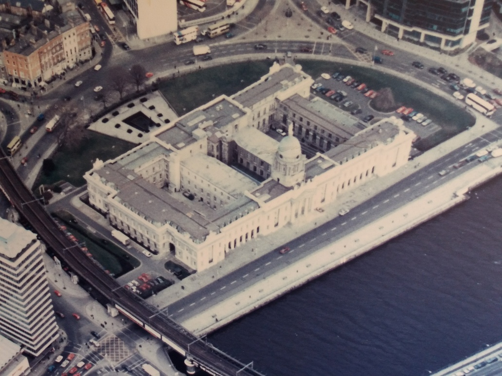 Aerial view of the Customs House