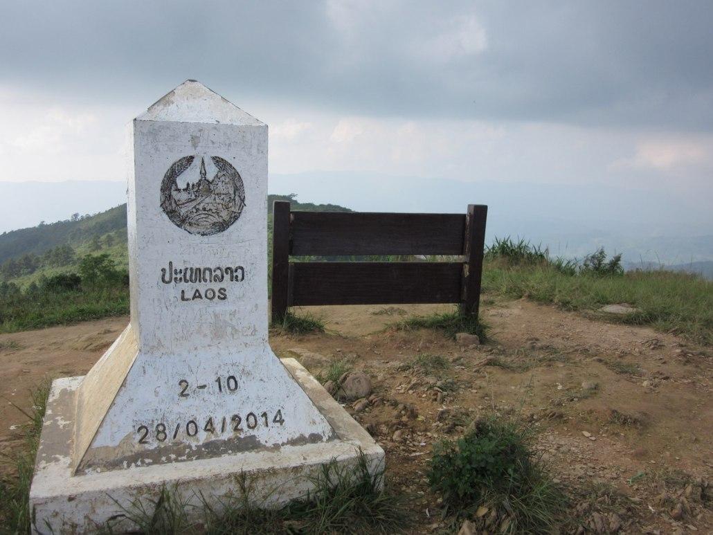 Border marker at Phu Chi Fa