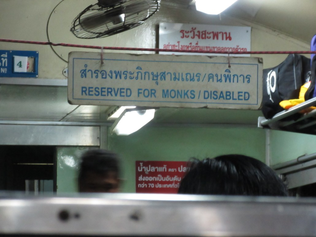 Travelling by train in Thailand
