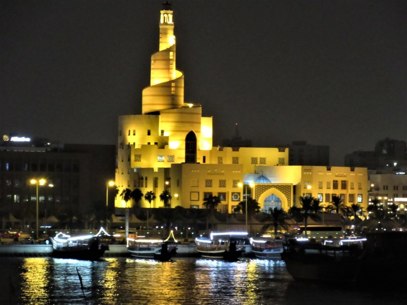 Doha by night, Dhow harbour