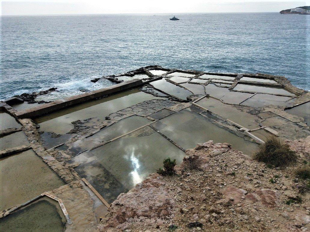 Salt pans at Delimara Point