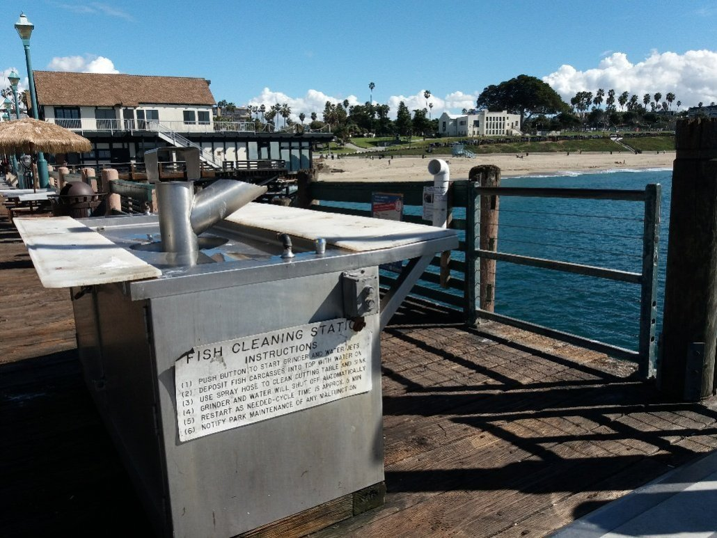 Fish cleaning station Redondo Pier near Torrance CA