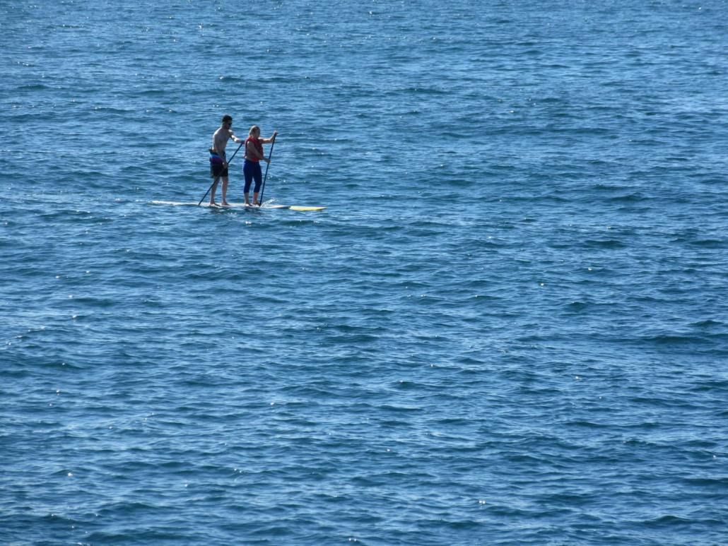 Riding the waves at Redondo pier near Torrance CA