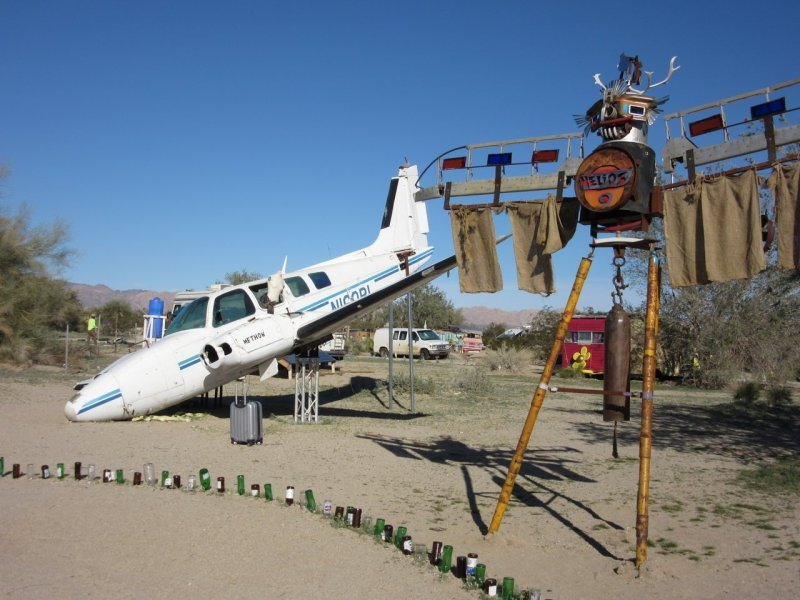 East Jesus sculpture park Slab City CA