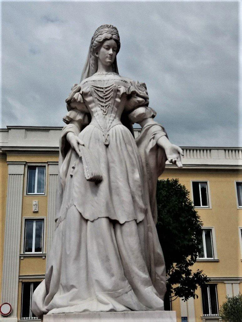 Statue of Queen Elizabeth on Erszébet tér Nagykanizsa Hungary