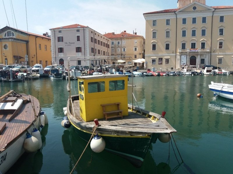 Piran by the harbour
