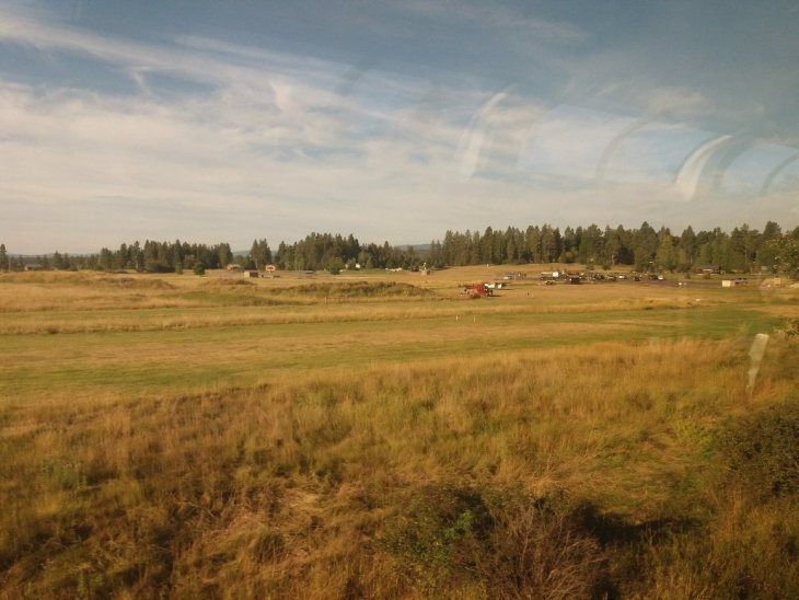Scenic view from the Empire Builder passing through North Dakota