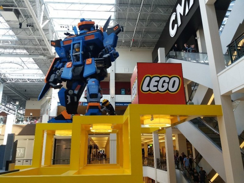 Lego display at Mall of America