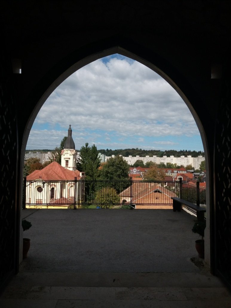 Vew through archway from Diósgyőr castle