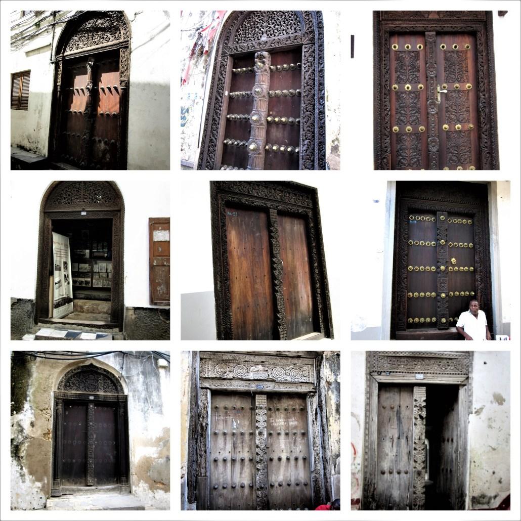Gujarati doors in Stone Town Zanzibar