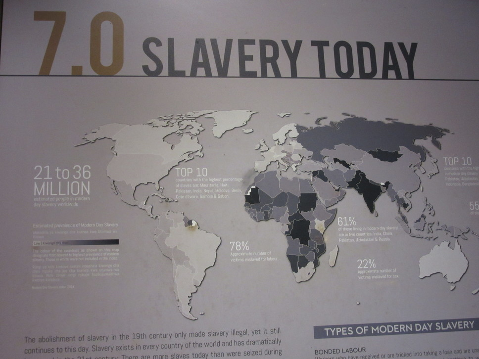 Slave market exhibit Zanzibar