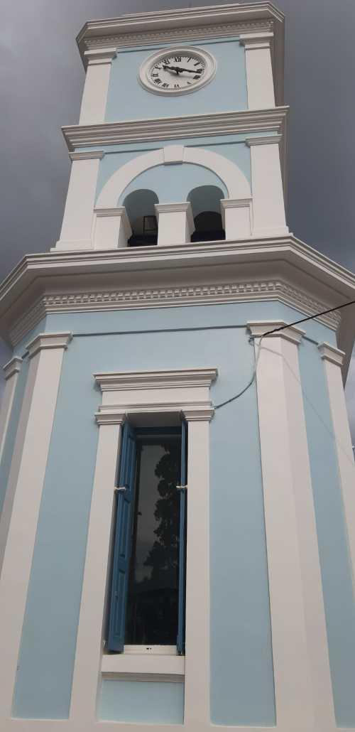 Clock tower in Poros Greece
