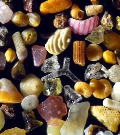Piesok pod mikroskopom