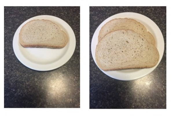 Serving - 1 slice: 85 calories. EVERYONE size - 2 slices: 170 calories.
