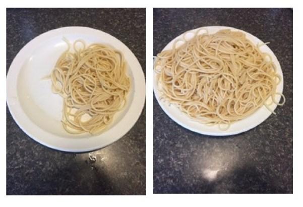 Serving: 2 ounces - 200 calories. Me size: 8 ounces - 800 calories.