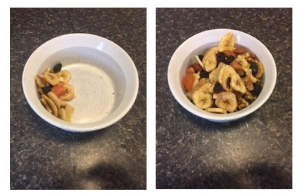Serving: 28 grams -130 calories. Me size: 154 grams - 715 calories.
