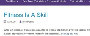 "Click to read ""Fitness Is A Skill""."
