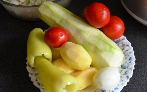 Диетическое овощное рагу в мультиварке2