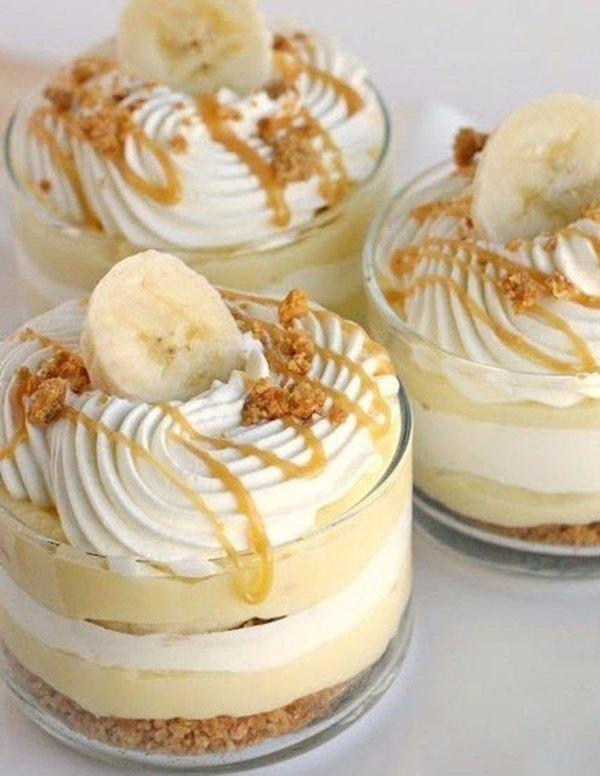 Бананово карамельный десерт с кремом2