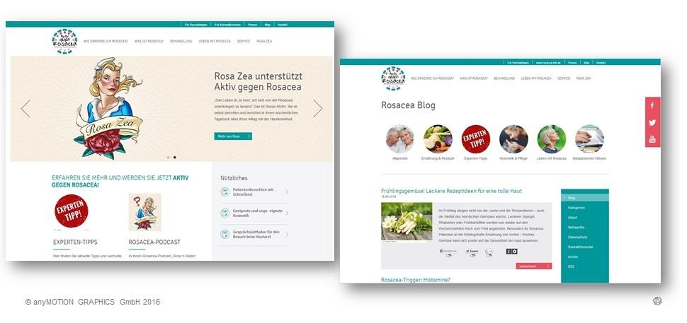 Rosacea Info und Rosacea Blog nach dem Relaunch durch anyMOTION