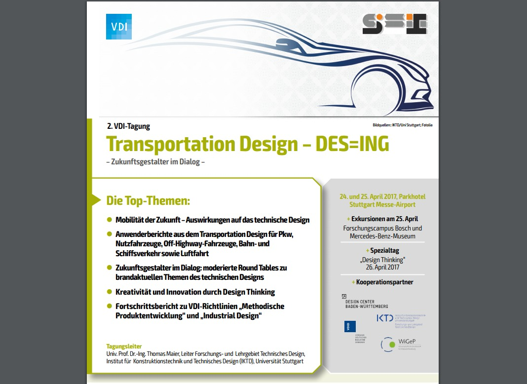 VDI Tagung Transportation Design DES=ING Ankündigung anyMOTION Referent Ingo Waclawczyk