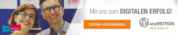 dmexco 2017 banner digitaler Erfolg digitale Transformation anyMOTION wirecard