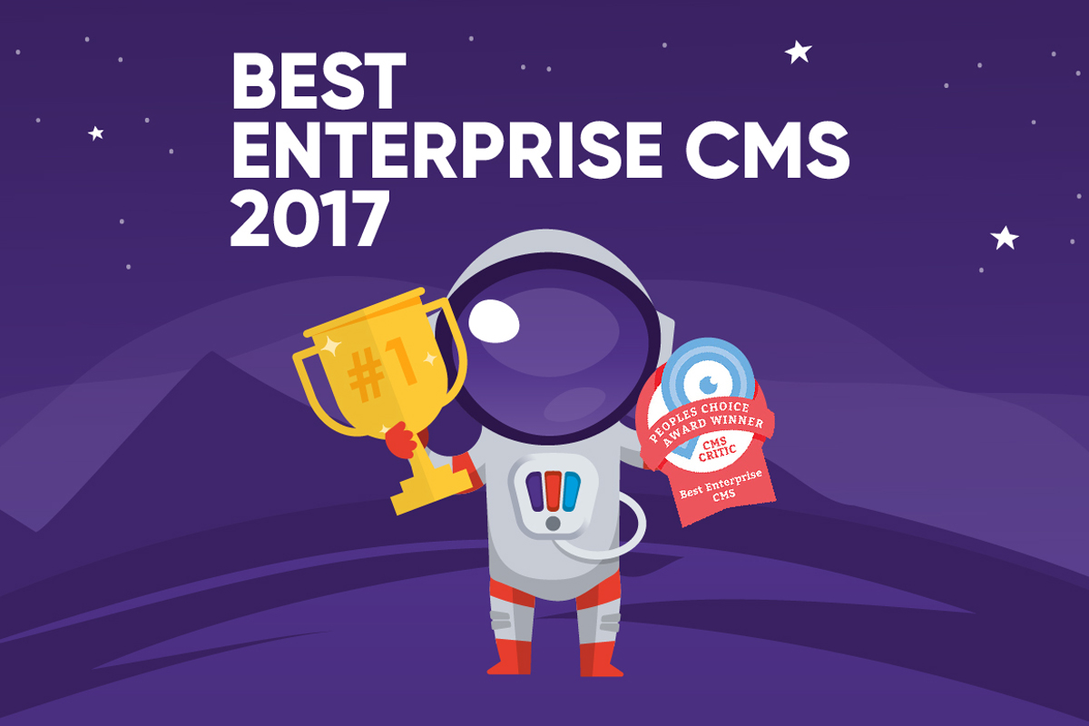 Pimcore gewinnt CMS Critic Award - Best Enterprise CMS anyMOTION Goldpartner