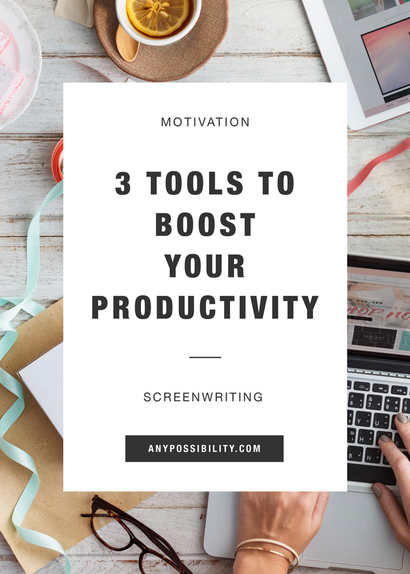 Boost your productivity in screenwriting