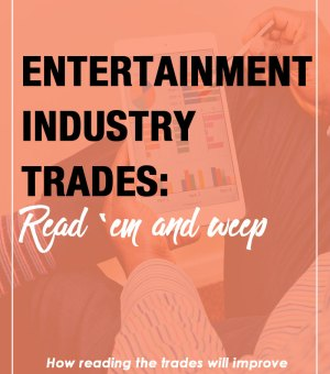 When someone refers to the entertainment industry trades, they are talking about news sources aimed at providing you with insider information, reviews, interviews, coverage of events and festivals, box office reports, and the like. If you're a smart screenwriter, you're checking the entertainment industry trades everyday to stay on top of your filmmaking, writing, television, webseries, and platform news.
