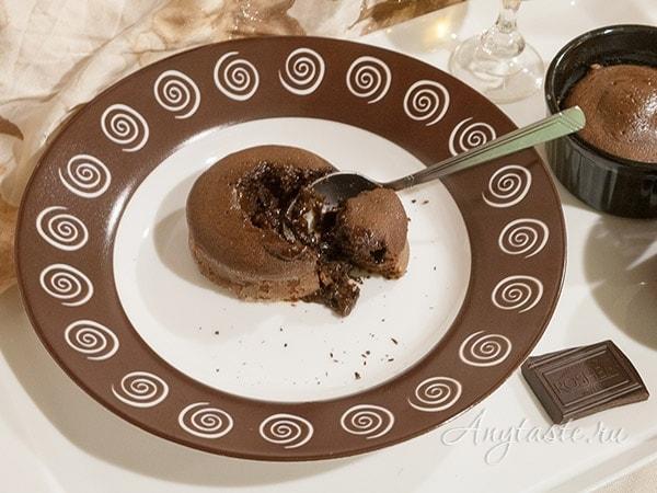 Шоколадные маффины с жидкой начинкой: пошаговый рецепт с ...