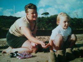 Me and my mum at the beach